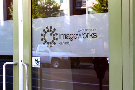 Vancouver, British Columbia, Canada - July 11, 2012 - Sony Pictures Imageworks Canada Front door Stock Photo - 14418340