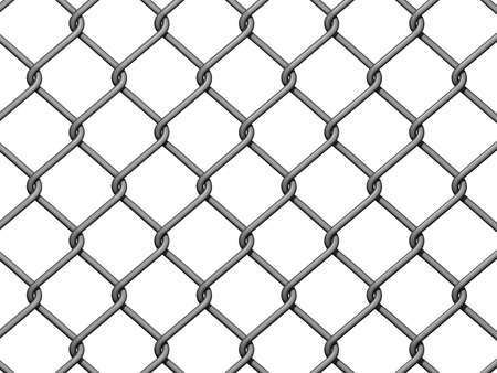 Chain Link Fence Background on white background.