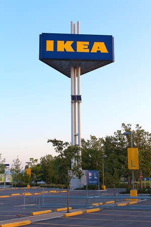 Vancouver, British Columbia, Canada - July 11, 2012 - Ikea Freestanding Sign. Stock Photo - 14418342