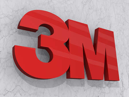 Vancouver, British Columbia, Canada - July 13, 2012 - 3M logo on a marble background. Stock Photo - 14418341