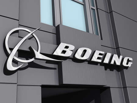 Vancouver, British Columbia, Canada - July 15, 2012 - Boeing Logo on a building front.