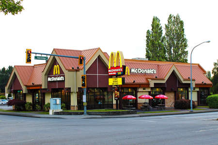 Vancouver, British Columbia, Canada - August 10, 2012 - A McDonald