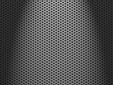 head light: Una textura de rejilla del altavoz con una luz fuerte sobre la cabeza. Foto de archivo