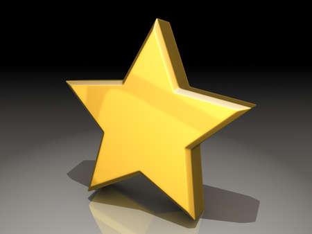 shiny: A gold star on a shiny background  Stock Photo