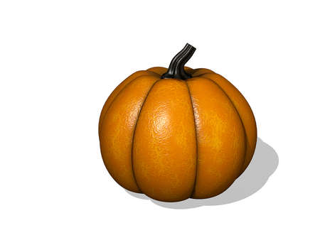 Pumpkin on a White background. Stock Photo
