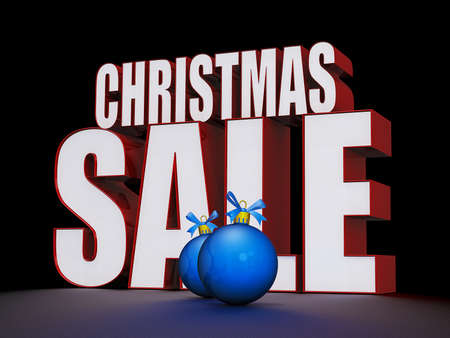 Christmas Sale text on a shiny Black background Stock Photo - 16147948