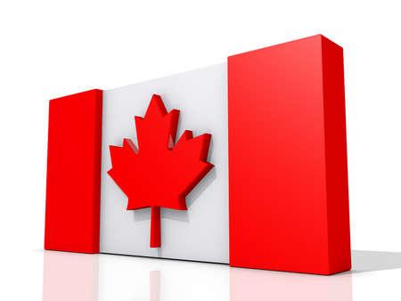 Canada Flag on a shiny white background Stock Photo - 16427982