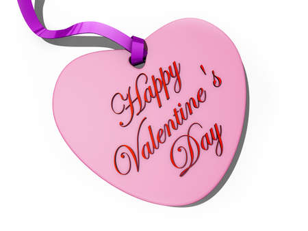 A heart card with Happy Valentine Stock Photo - 16466383