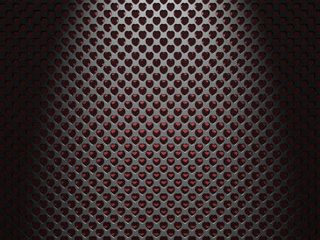 A Valentines Heart speaker texture background. Stock Photo - 16485312