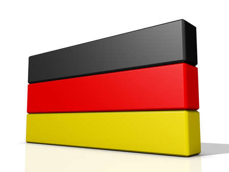 Germany Flag on a shiny white background  Stock Photo - 16664945