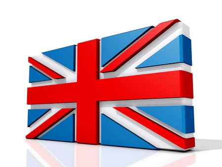 United Kingdom Flag on a shiny white background. Stock Photo - 16712698