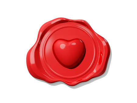 Valentine's Wax Seal icon on white background. Stock Photo - 16741690