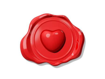 Valentine's Wax Seal icon on white background. Stock Photo - 16741690