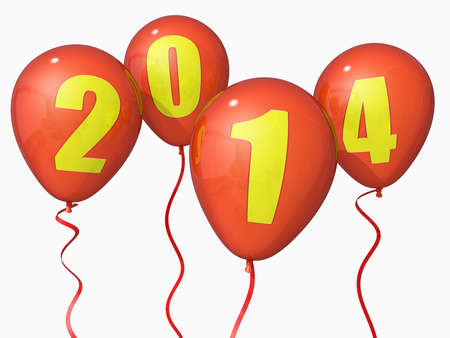 Balloons with 2014 on them. photo