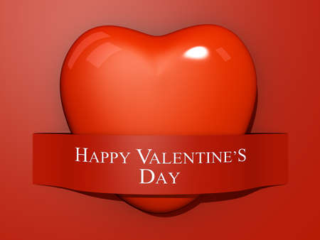 A Heart with a paper cut out with the text Happy Valentine's Day. Stock Photo - 17299274
