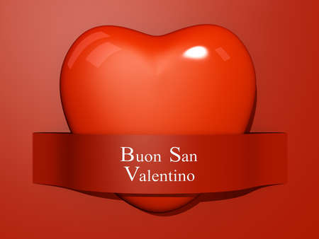 A Heart with a paper cut out with the text Happy Valentine Stock Photo - 17572057