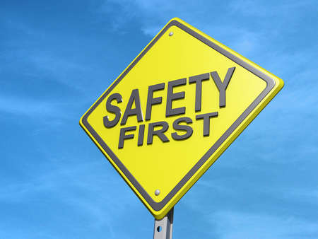 A yield road sign with Stock Photo - 17610978