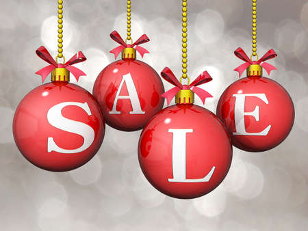 Ornaments with Sale written on them with a bokeh Background. Stock Photo - 17710930