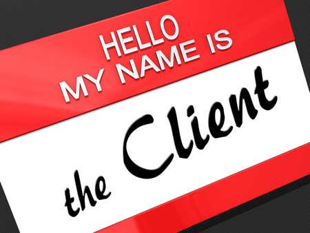 Hello My Name is Stock Photo - 17710927