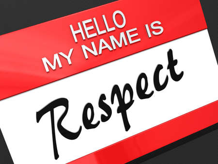 reverence: Hello My Name is  Stock Photo
