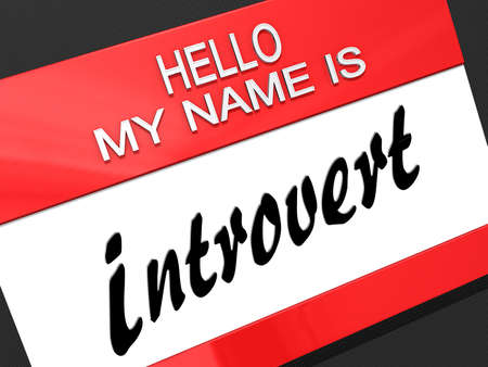 introvert: Hello My Name is  Stock Photo