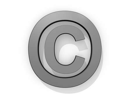 Copyright Logo on a white background.