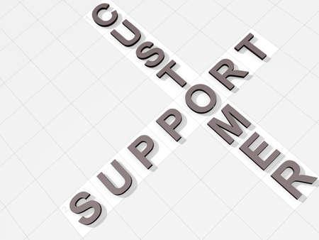 フェイント クロスワード背景上の単語のカスタマー サポート