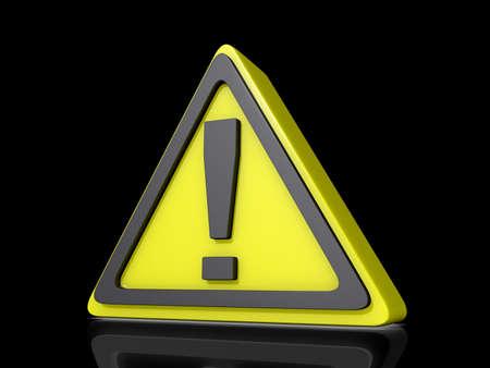 Voorzichtigheid Idea pictogram op een glanzende zwarte achtergrond