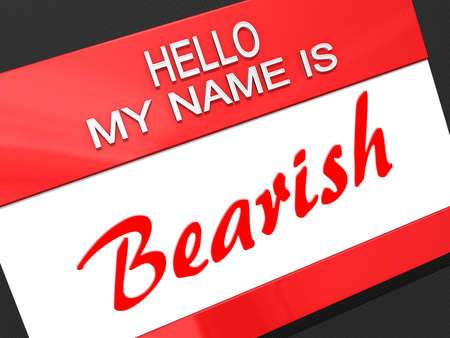 bearish market: Hello My Name is  Stock Photo