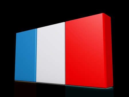 France Flag on a shiny dark background. Stock Photo - 18356834