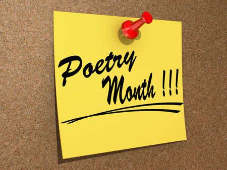estrofa: Una nota clavada en un tablero de corcho con el texto