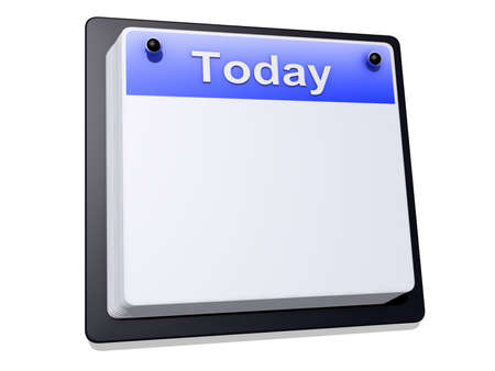 One day Calendar on a white background Stock Photo - 18458550