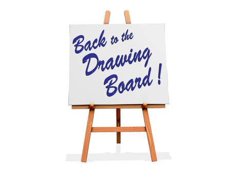 Art Easel on a white background with Back to the Drawing Board