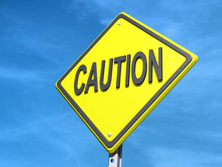 yield: A yield road sign with Caution
