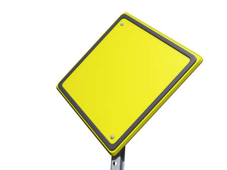 yield sign: A yield road sign with Copy Space on a white background