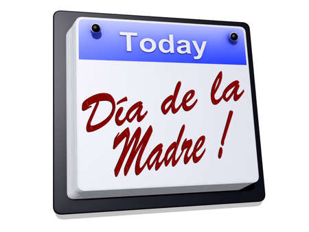 dia de la madre: One day Calendar with the text