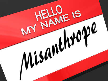 recluse: Hello My Name is  Stock Photo