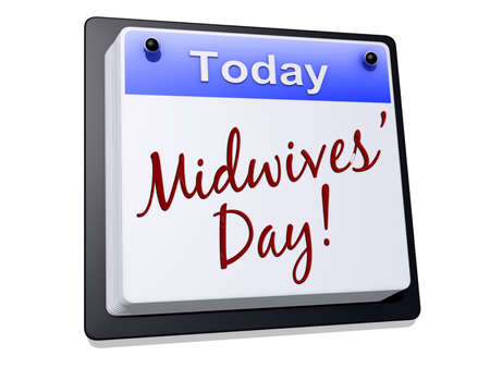 midwifery: One day Calendar with  Stock Photo