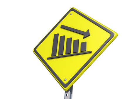 equities: A yield road sign with  Stock Photo