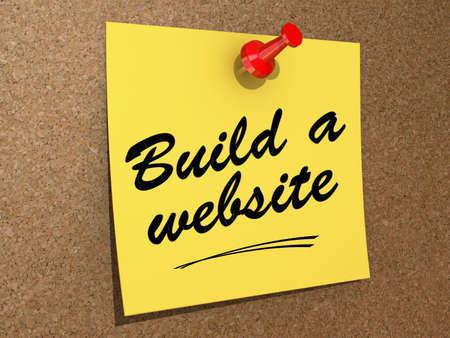 メモは、テキスト ビルドをウェブサイトとコルクボードに固定