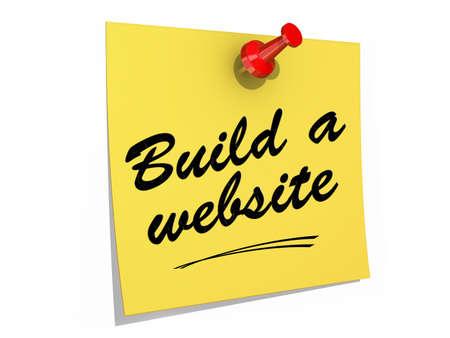 テキストを白い背景に固定されている注は、ウェブサイトを構築します。
