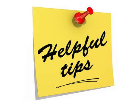 メモは、役に立つヒントのテキストを白い背景に固定されます。