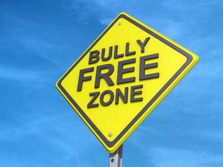 harass: A yield road sign with a Bully Free Zone Yield Sign