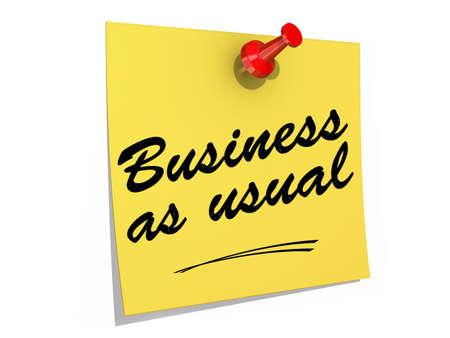 メモは、白の背景にテキスト ビジネスいつものように固定されます。 写真素材