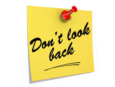 A note pinned to a white background with the text Don