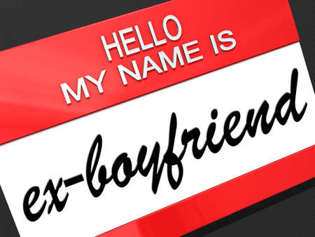 Hello my name is ex-Boyfriend on a nametag  Stock Photo - 19454878
