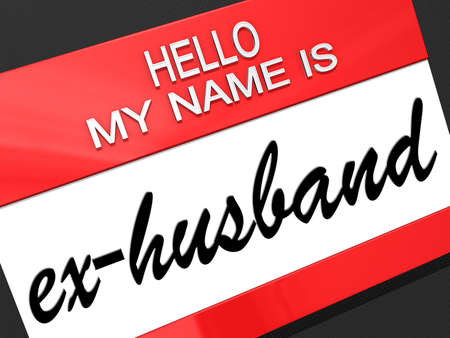 Hello my name is ex-Husband on a nametag  Stock Photo - 19454875