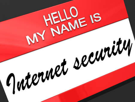 Hello my name is Internet Security on a nametag  Stock Photo - 19454876
