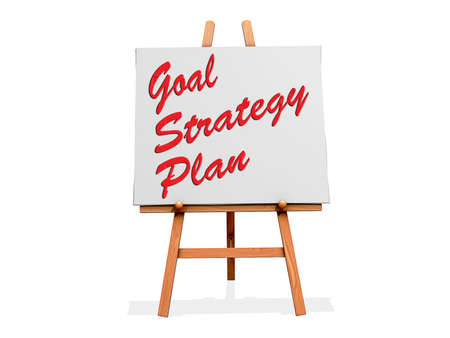 Goal Strategy Plan on a sign Stock Photo - 19454893