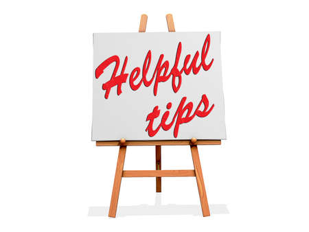 Helpful Tips on a sign  Stock Photo